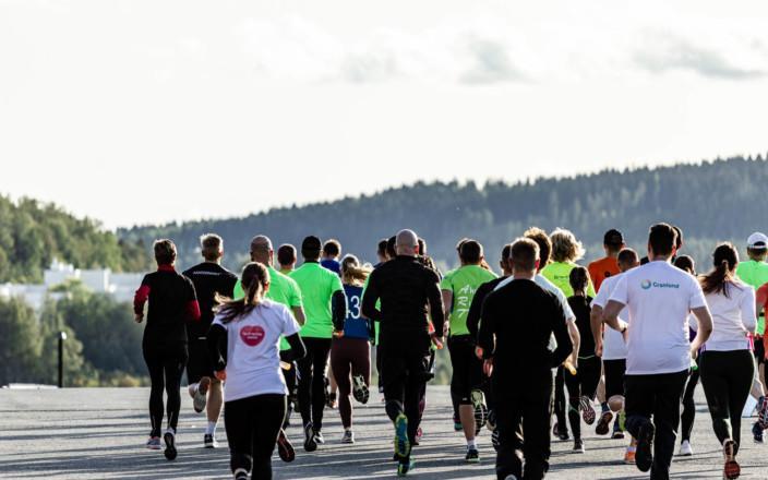 Finlandia Marathonin juoksijoita Jyväskylässä