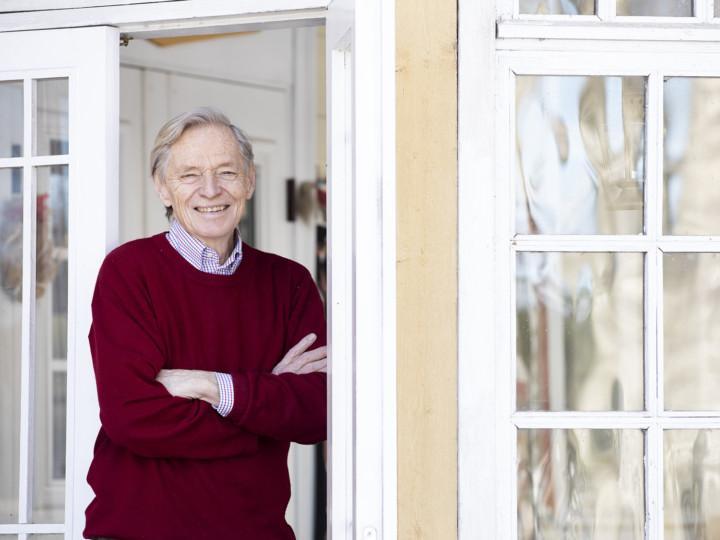Tom Grönberg kotonaan Kirkkonummella maaliskuussa 2021